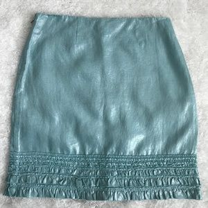 Tommy Bahama SZ 4 Acqua Metallic Linen Ziper Skirt